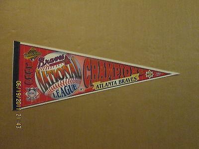 MLB Atlanta Braves Vintage 1996 NL Champions BACK 2 BACK Logo Baseball Pennant