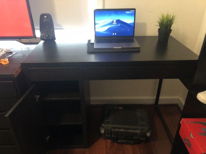Ikea black micke study desk new desks gumtree australia