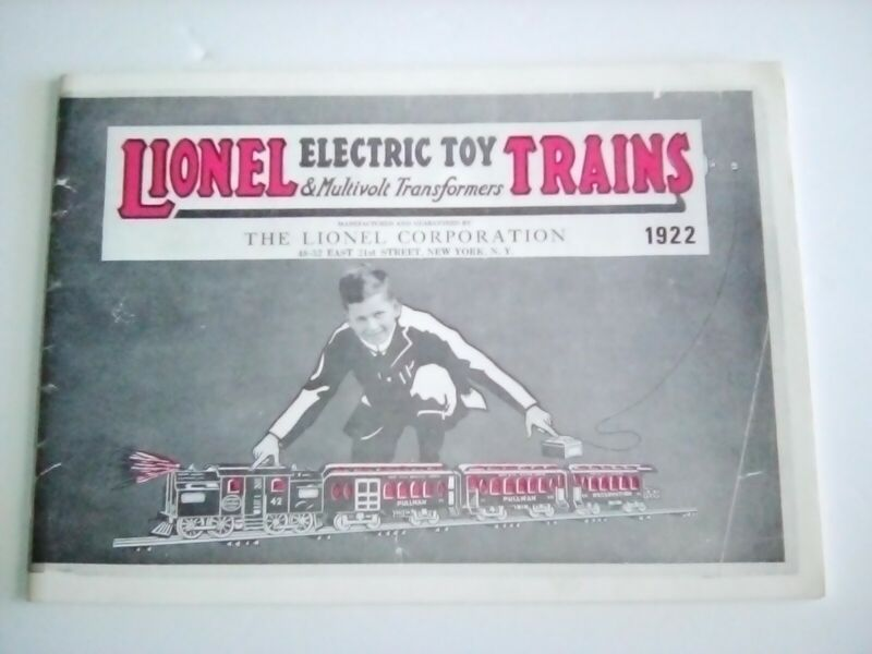 LIONEL 1922 REPRODUCTION CATALOG B/W EXC Cond. Great Reference Piece!