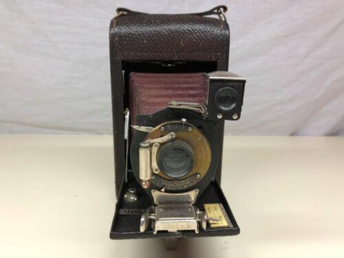 RARE Antique TBI Brownie Eastman Kodak Red Belo Folding Automatic Camera
