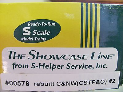 S-Helper Steel Rebuilt Box Car #00578 C&NW #2