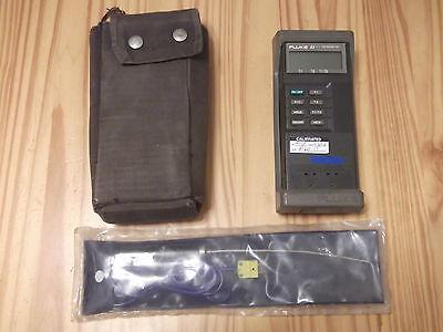 Fluke 52 Kj Thermometer Wnew Omega K-type Probeservice Manual On Cd
