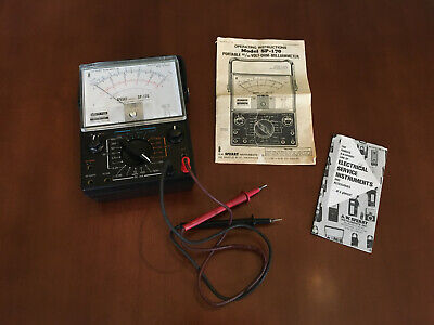 Vintage Analog Multi-meter Sperry Sp-170 Wcase Also Fits Sp-160 For Ham Radio