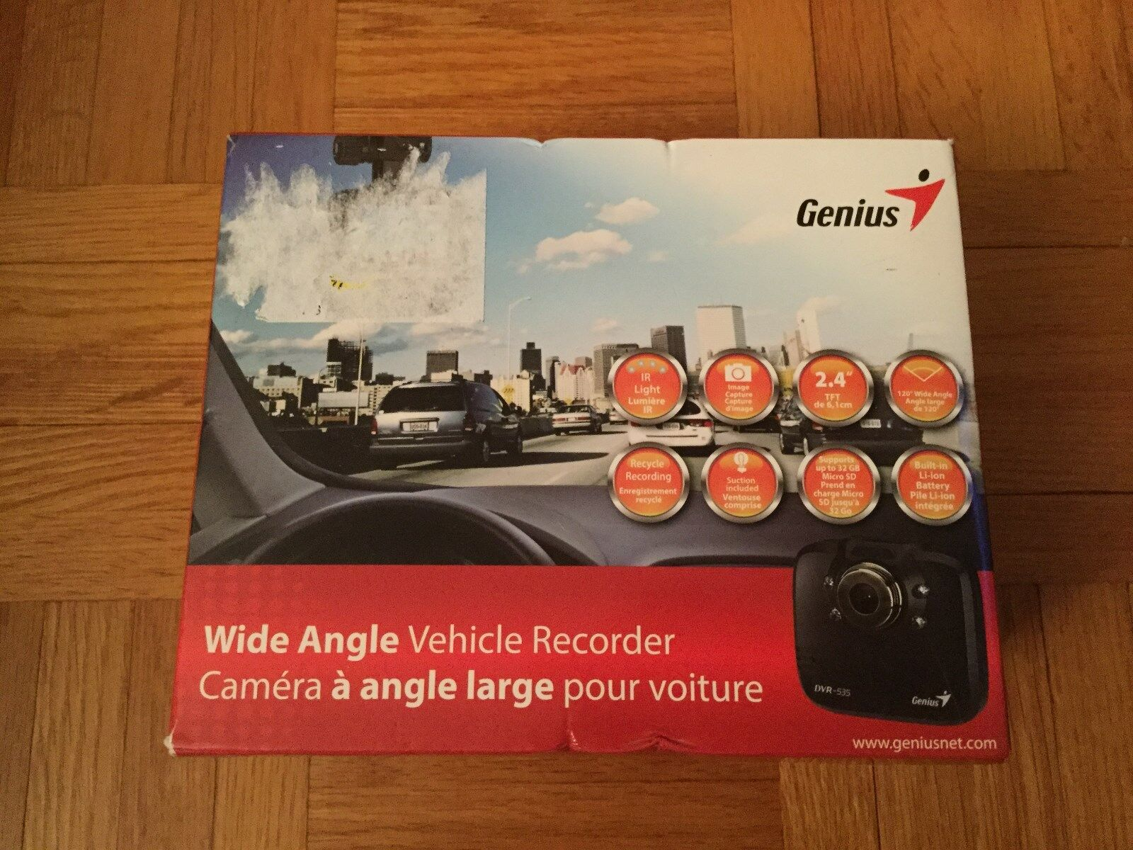 Genius DVR-535 120 Degree Wide Angle Vehicle Recorder - 2.4