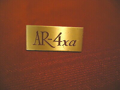 ACOUSTIC RESEARCH ORIGINAL, EARLY PRODUCTION AR-4XA ENGRAVED LOGO PLATE