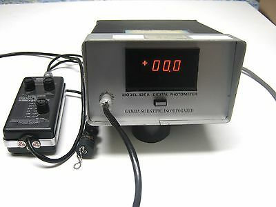 Gamma Scientific 820a Digital Steady State Photometer Lightmeter
