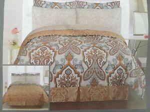 Brand new QUEEN 8pcs REVERSIBLE  comforter set