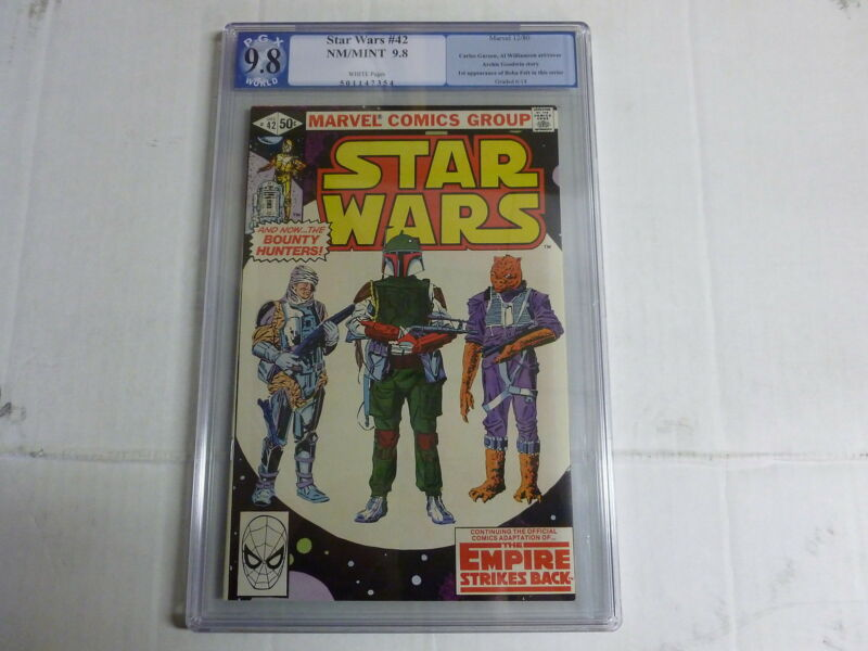 STAR WARS   # 42  9.8 pgx boba fett not cgc