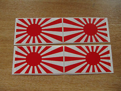 4x stickers 90mm x 50mm decals JAPAN RISING SUN FLAG