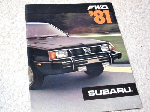 1981 SUBARU FWD (USA) SALES BROCHURE