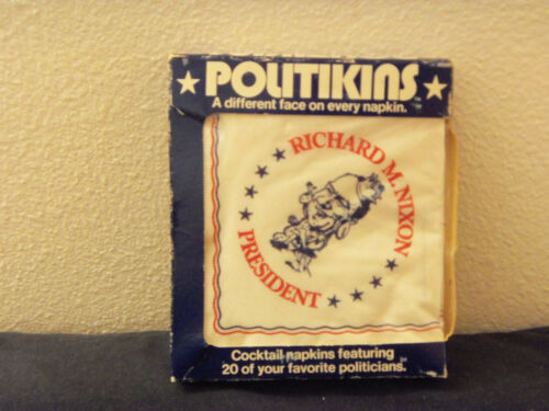 new in package Politikins Richard Nixon napkins from 1972