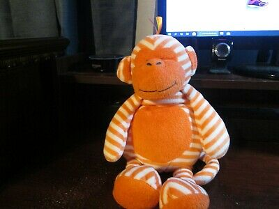 "Manhattan Toy Giggle Baby 16"" orange striped monkey (RARE)"
