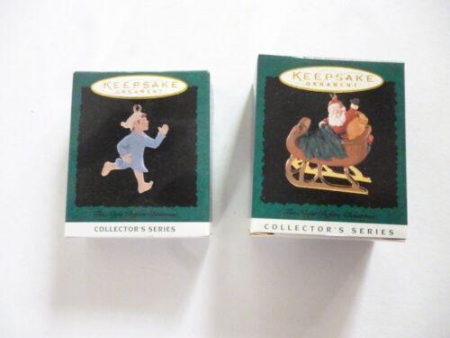 Set of Hallmark Keepsake Miniature Ornaments The Night Before Christmas  #3 #5