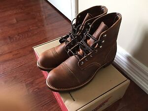 RED WING IRON RANGER BOOT COPPER ROUGH & TOUGH LEATHER 8085