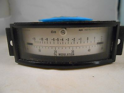 77-3632-0000 Shielded Meter -15 - 2 Decibels 0-50 Modulation 3 12 Wide