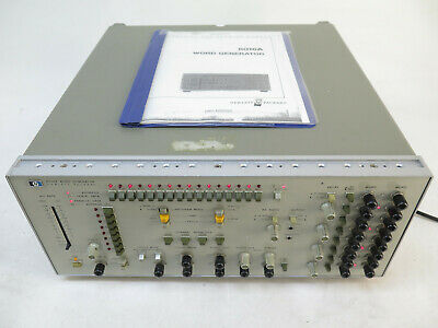 Hp 8016a Word Generator With Option Number 01 And Manual