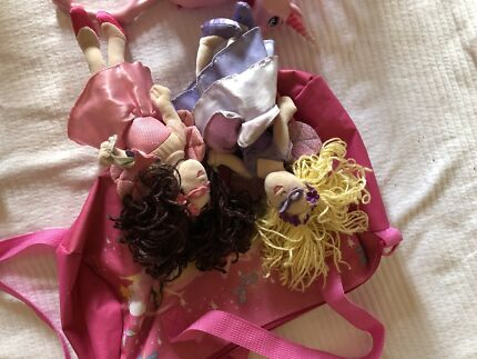 The Fairies Bag and soft toy dolls