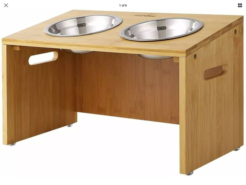 Feandrea Dog Bowl Stand New