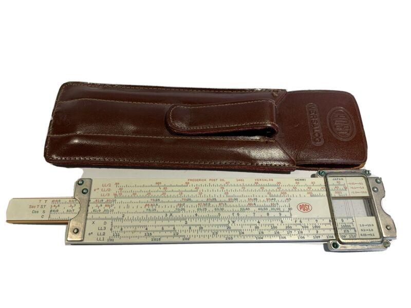 Vintage Slide Rule ~ Frederick Post Versalog 1461 w/ Leather Case!!!