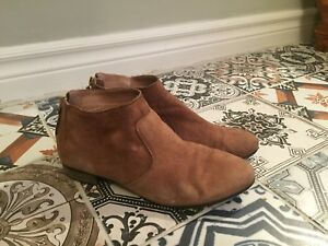 Brown Ankle Booties size 7.5