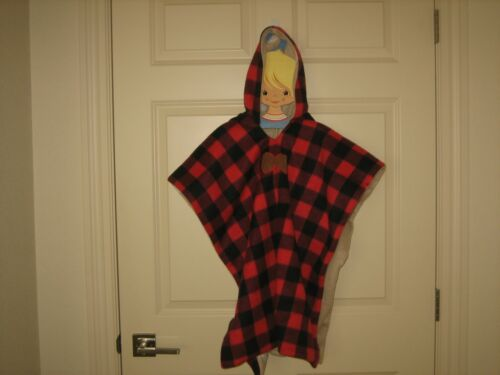 ~ BIRDY BOUTIQUE - Lumberjack Buffalo Plaid & Antlers Car Seat Poncho~OS~