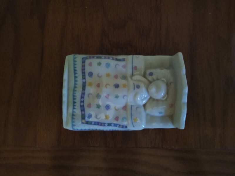 LENOX China Bears Heirloom Collection MUSIC BOX Bedtime Brahms Lullaby 4.75