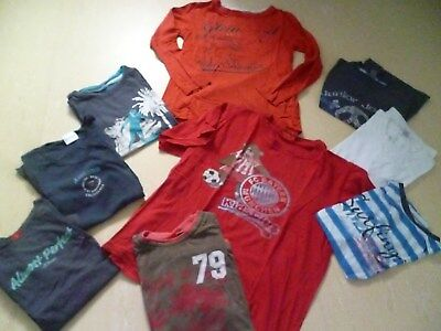 9er Set Jungen Shirt Tshirt Nachthemd lang kurzarm Gr.134 -146/152 H&M FCBayern gebraucht kaufen  Veitshöchheim