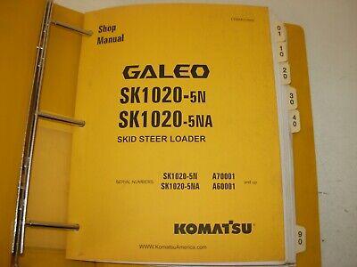 Komatsu Sk1020-5n Sk1020-5na Skid Steer Loader Shop Manual A70001 A60001 -up