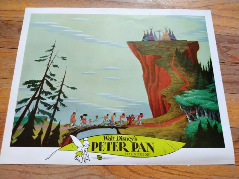 DISNEY Movie Theater Authentic Lobby Card PETER PAN Re-release circa 1976