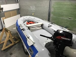 Achilles Inflatable Boat, Tohatsu Outboard Motor and Trailer Howrah Clarence Area Preview