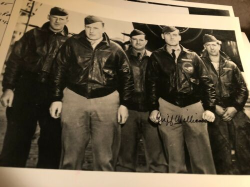 GRIFF  WILLIAMS JIMMY DOOLITTLE  RAIDERS CREW  WWII AUTOGRAPH SIGNED PHOTO