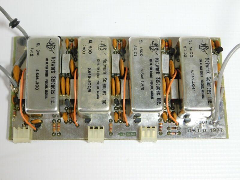 Drake R7 Radio Receiver Filter Board w/SL-300 SL-500 SL-1800 SL-4000 (nice)