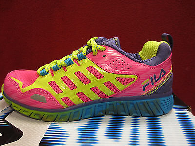 New Fila Front Runner 3 Kids Girls Size 5 Y Running Shoes PNK GL/LPCH/DPBL  Pink