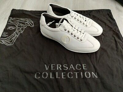 Versace Collection Trainers/Shoes Black/White 8.5uk