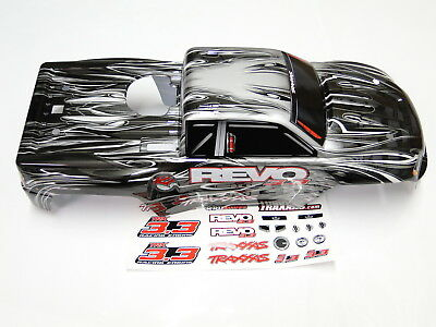 NEW TRAXXAS REVO 3.3 Body ProGraphix Painted Silver Trim RR6V ()