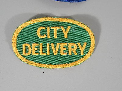 City Delivery Patch / New Old Stock of Closed Embroidery Company / FREE Ship - Party City Shipping