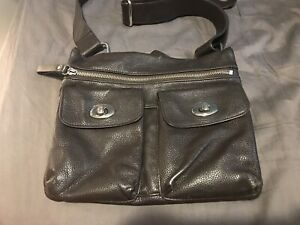 a9530ca61177 Danier Crossbody Brown Leather Bag - Roots Style