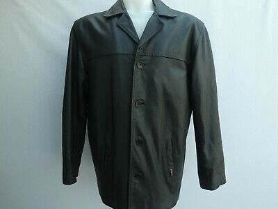 BEN SHERMAN BLACK LEATHER JACKET SIZE M VERY GOOD CONDITION!!!!!!
