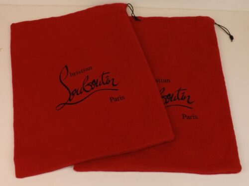 """SET OF 2 CHRISTIAN LOUBOUTIN RED DUST BAG LINING SILK FOR SHOES 9.5x14"""""""