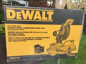 "DeWalt 12"" Double-bevel Compound Mitre Saw (brand new, in box)"