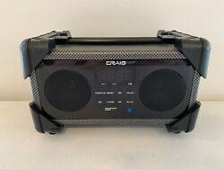 Craig Small Portable Bluetooth Speaker Boombox FM Radio Digital Alarm Clock Box