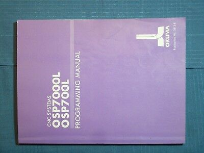 Book Okuma Lathe Programming Manual Purple Cnc Systems Osp7000l Osp700l 3rd Ed.