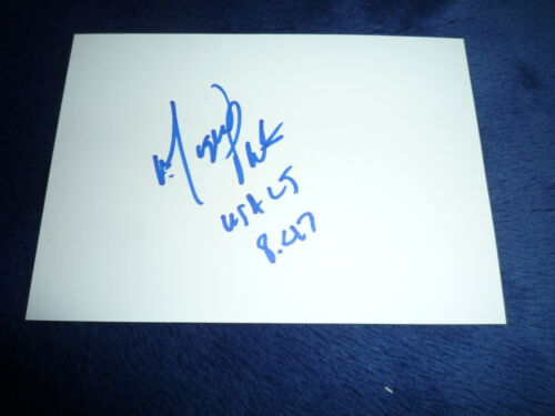 MIGUEL PATE  signed Autogramm 10x15 cm In Person WEITSPRUNG USA