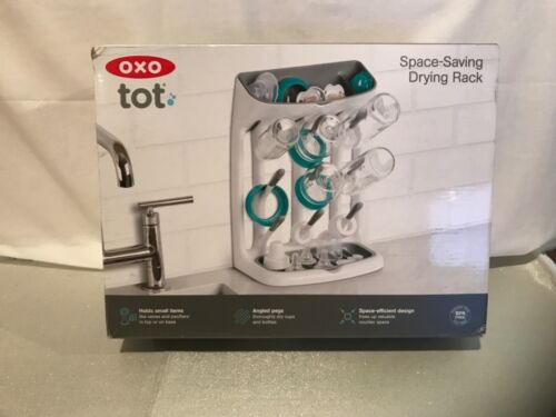 OXO TOT BABY BOTTLE SPACE-SAVING DRYING RACK NEW IN BOX