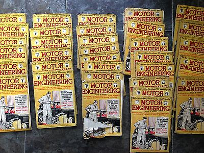 NEWNES MOTOR ENGINEERING BOOK FULL SET 33 books 1935 REDUCED