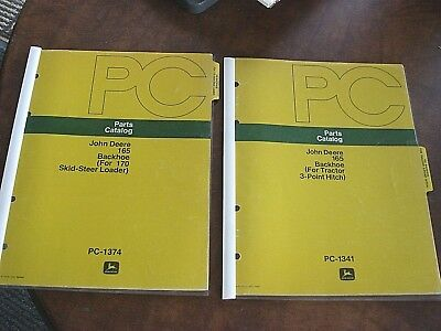 John Deere Pc-1341 Pc-1342 Backhoe 165 For Tractor 3-point Hitch Catalog Manual