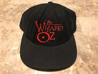VTG 90s The Wizard Of Oz Warner Bros. Movie Embroidered Adjustable SnapBack Hat - Wizard Of Oz Hat