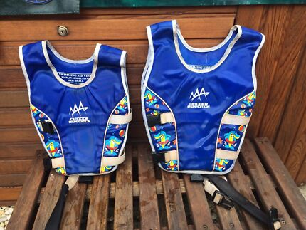 Kids swimming  aid vests. Size 0-2 and size 2-6