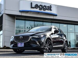 2018 Mazda CX-3 GT- LEATHER, BOSE, ALL WHEEL DRIVE, GPS