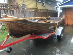 Douglas Boat Works Cedar Rowboat and Sailing Dinghy